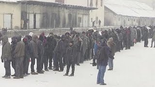 Refugees in Greece and Serbia forced to endure sub-zero temperatures