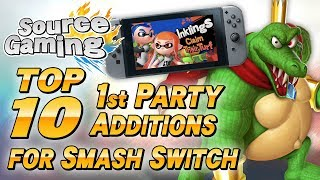 Top 10 1st Party Additions for Smash for Switch - SG Choice