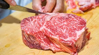 Japanese Steak - THICK WAGYU BEEF at Shima Steak (西洋料理 島) — Best of Tokyo Food Tour!