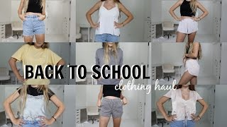 BACK TO SCHOOL TRY-ON CLOTHING HAUL // OLIVIA JADE