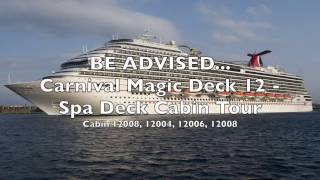 Carnival Magic - Spa Deck 12 - Watch Before You Book - Cabin Tour