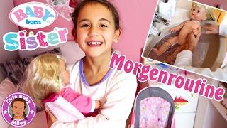 MORGENROUTINE BABY BORN SISTER | Puppenmama Miley | CuteBabyMiley