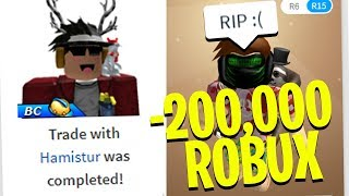 I traded a FAN an EXPENSIVE ROBLOX ITEM..