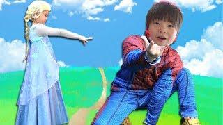 Spiderman Kids SuperHeroes Popular Videos スパイダーマン VS アナと雪の女王 エルサ VS ブラックスパイダーマン 人気動画 まとめ連続再生