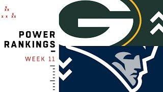 NFL Week 11 Power Rankings!
