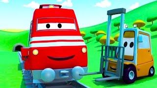 Troy der Zug und der Gabelstabler in Autopolis | Auto & Lastwagen Cartoons für Kinder