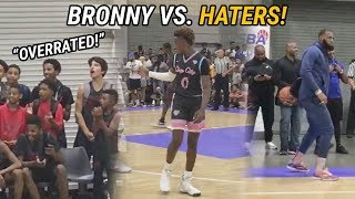 """Bronny James & Blue Chips Quiet """"OVERRATED"""" Chants With 60 Point Win! LeBron Dances With Fam!"""