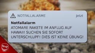 Raketen-Alarm gestern auf Hawaii! - Was würde in Deutschland passieren?