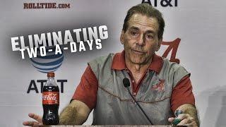 Nick Saban gives his thoughts on NCAA