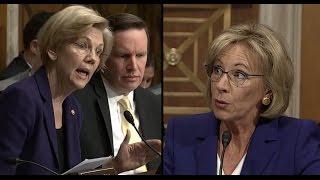 Elizabeth Warren Questions Betsy Devos | ABC News