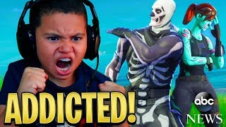 My 9 Year Old Little Brother *MADE* It On The News For Being So Addicted To Fortnite Battle Royale..