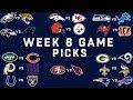 Week 8 NFL Game Picks | NFLmp3