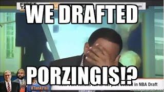 Stephen A Smith Reaction: Before & After 2015 Knicks Draft (Kristaps Porzingis)