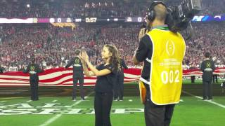 National Championship 2016 National Anthem in ASL