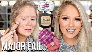 FULL FACE FIRST IMPRESSIONS TESTING NEW MAKEUP | HITS & MISSES