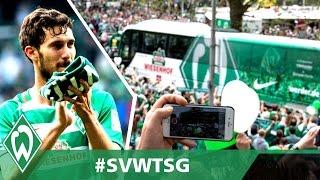 Santiago Garcia & Zlatko Junuzovic bedanken sich bei Fans | Werder Bremen - TSG Hoffenheim 3:5