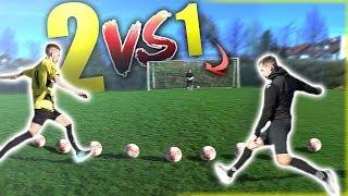2 GEGEN 1 FUßBALL CHALLENGE!!! (ft. SPECIAL ADIDAS Predator PRO )