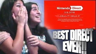 WE BOTH NEED A MEDIC AFTER THIS!! || Nintendo Direct 3.08.18 { LIVE REACTION }