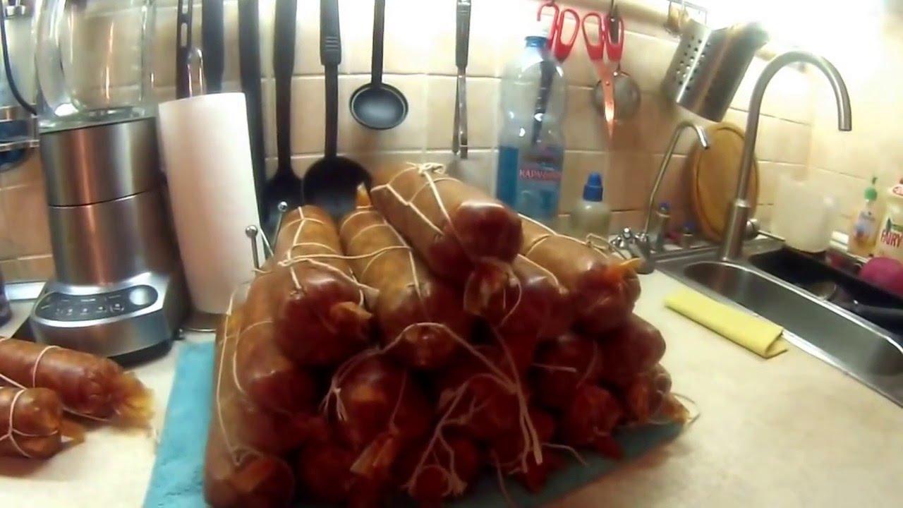 Изготовление варено-копченой колбасы в домашних условиях