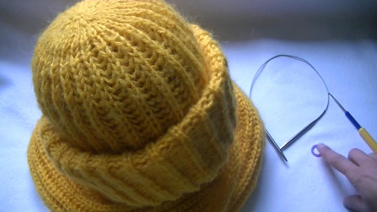 Как завершать вязание английской резинки шапку