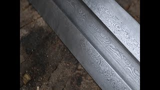 Forging a Damascus Viking sword part 1.