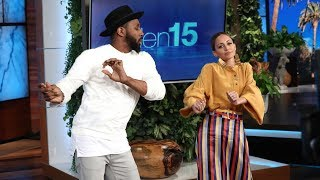 Nicole Richie Gets a Dance Lesson from tWitch