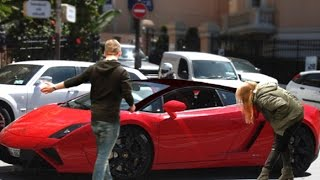 GOLD DIGGER PRANK - Lamborghini 2016 Rich Kid Parody