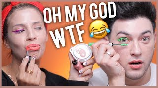 TESTING CHEAP AMAZON MAKEUP WITH LAURA LEE! WE
