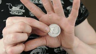 Vanishing COIN TRICK - TUTORIAL | TheRussianGenius