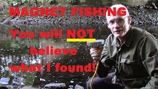 YOU WILL NOT BELIEVE WHAT I FOUND! I went river magnet fishing and got the surprise of my life.
