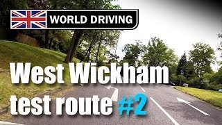 West Wickham test route PART 2 (Independent driving following signs to Addington)