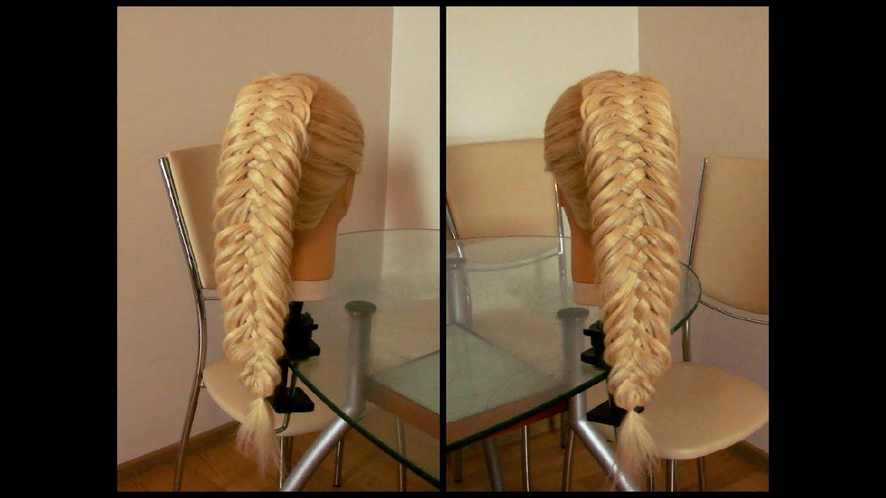 Пятипрядное плетение косы видео