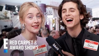 Saoirse Ronan & Timothee Chalamet Talk Names Being Butchered | E! Live from the Red Carpet