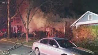 Early morning fire damages Elmwood home