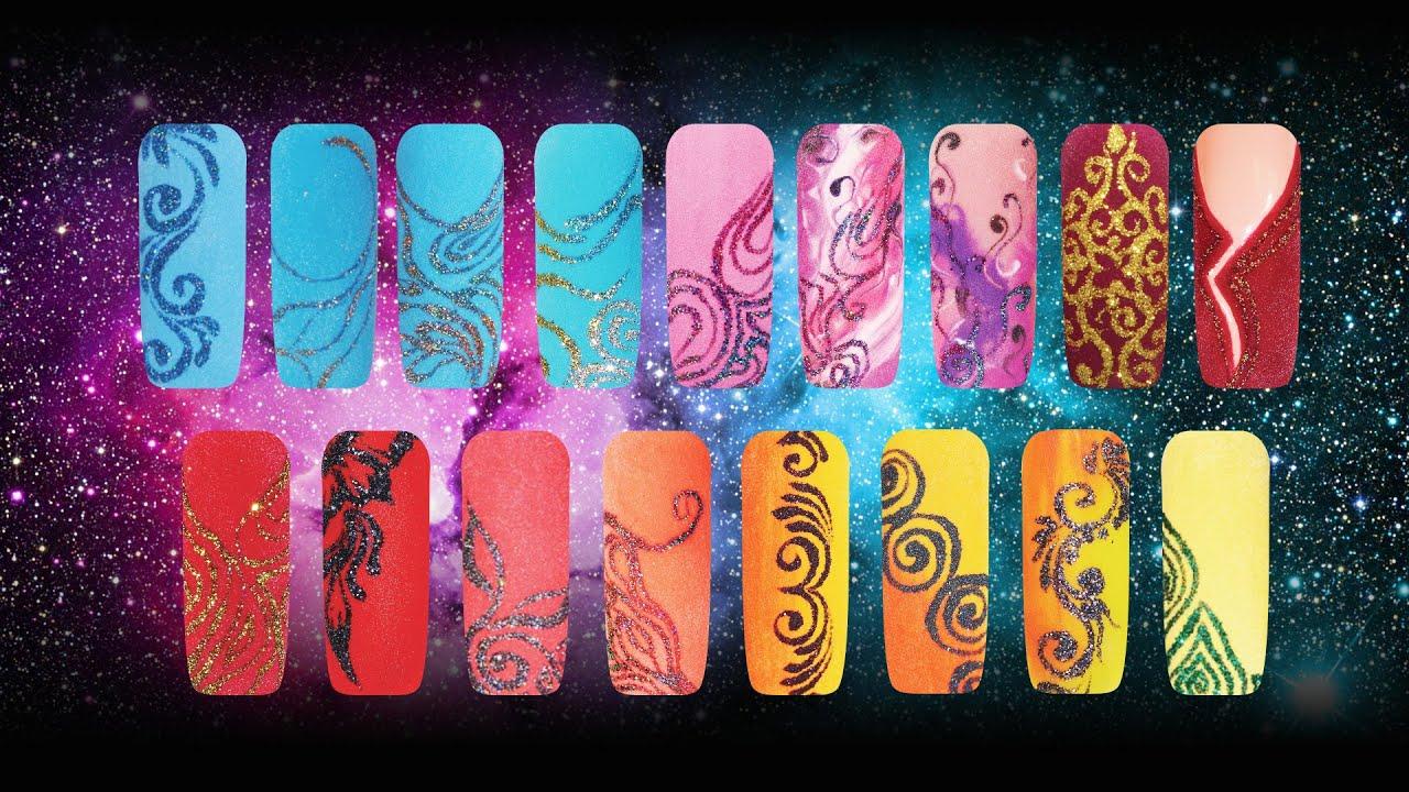 Пудра для дизайна ногтей видео