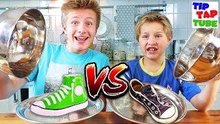 CHOCOLATE FOOD vs. REAL 🍫 Wer hat Lust, Schuhe zu essen?  TipTapTube
