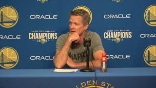 Steve Kerr Postgame Interview / GS Warriors vs LA Clippers / Feb 22