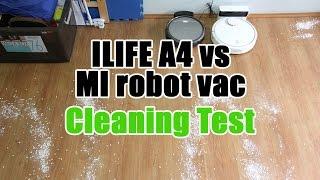ILIFE (Chuwi) A4 vs Xiaomi Robot Vacuum Cleaning Test