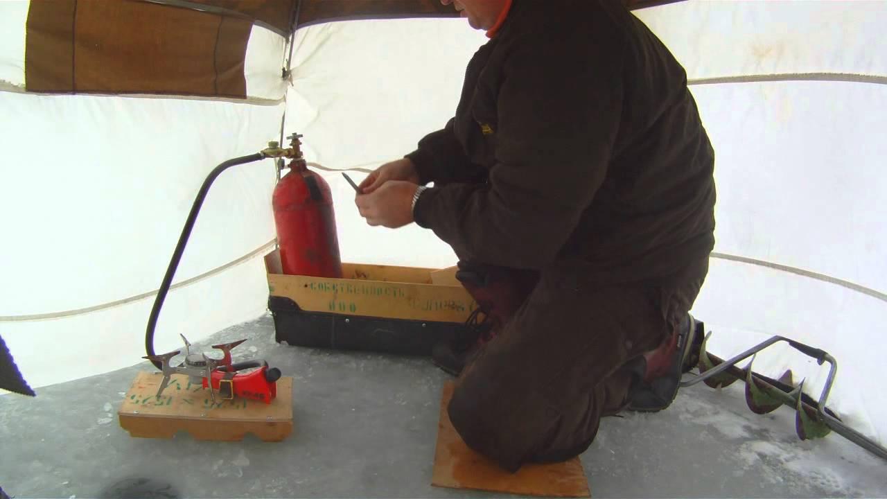 Обогреватель зимней палатки своими руками