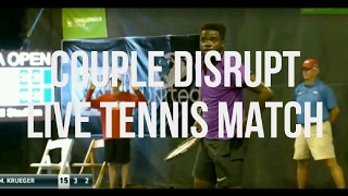 Intimate Couple Disrupt Live Tennis Match