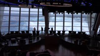 Anthem of the Seas Cruise Ship - Two70° Lounge - Big Waves!