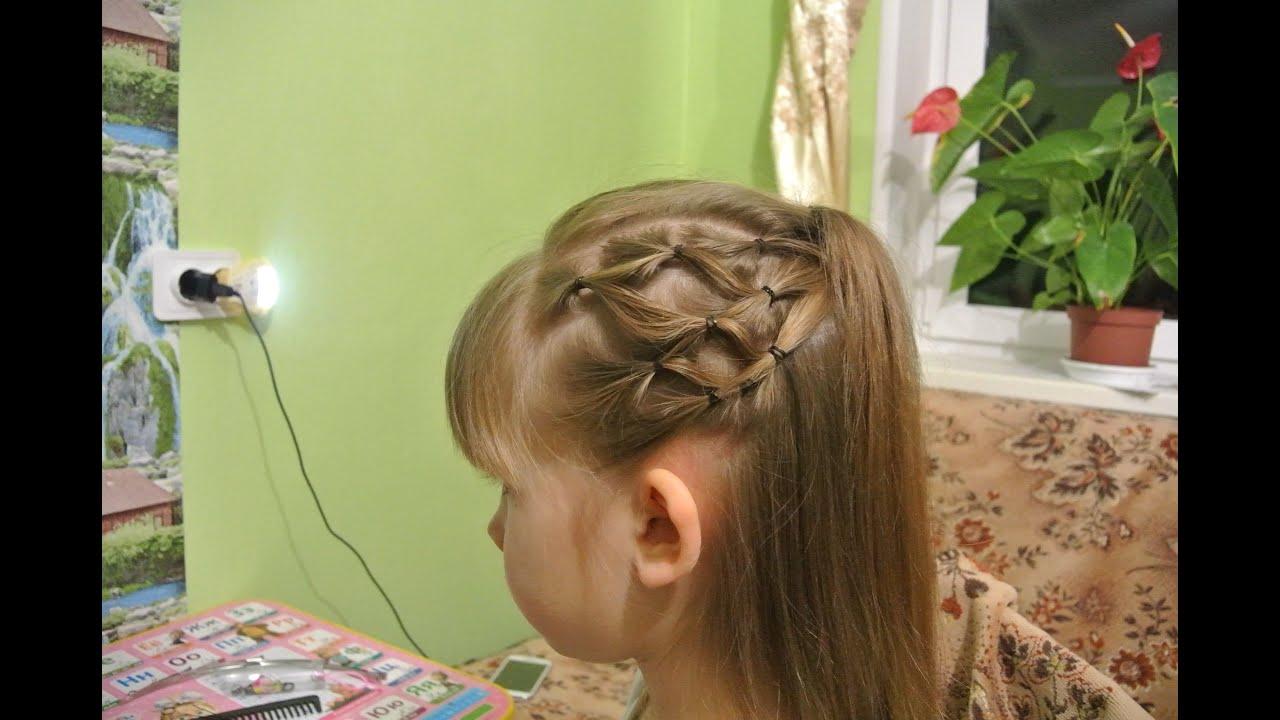 Прически короткие волосы с 2 резинками