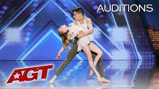 Kid Dancers Izzy and Easton Dazzle With Contemporary Dance - America