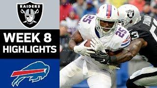 Raiders vs. Bills   NFL Week 8 Game Highlights