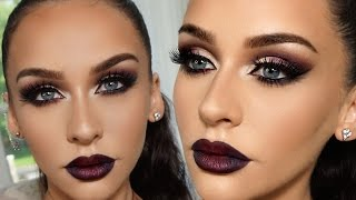 SMOKED PURPLE GRUNGE GLAM | Carli Bybel