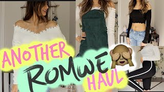 TRY ON ROMWE HAUL - FIRST IMPRESSION - UNBOXING- PART 3