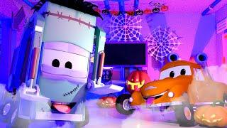 Garry ist voll mit SPINNWEBEN  💀 🎃 Halloween in Car City 👻 Cartoons für Kinder