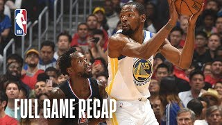 WARRIORS vs CLIPPERS | Kevin Durant Leads Wire-to-Wire Victory | Game 3