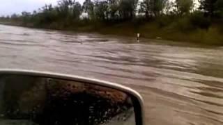 Schweres Unwetter auf der Autobahn A14