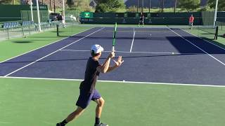 David Goffin / Karen Khachanov (60 fps) 2017 Indian Wells Practice 3/6/17 BNP Paribas Open
